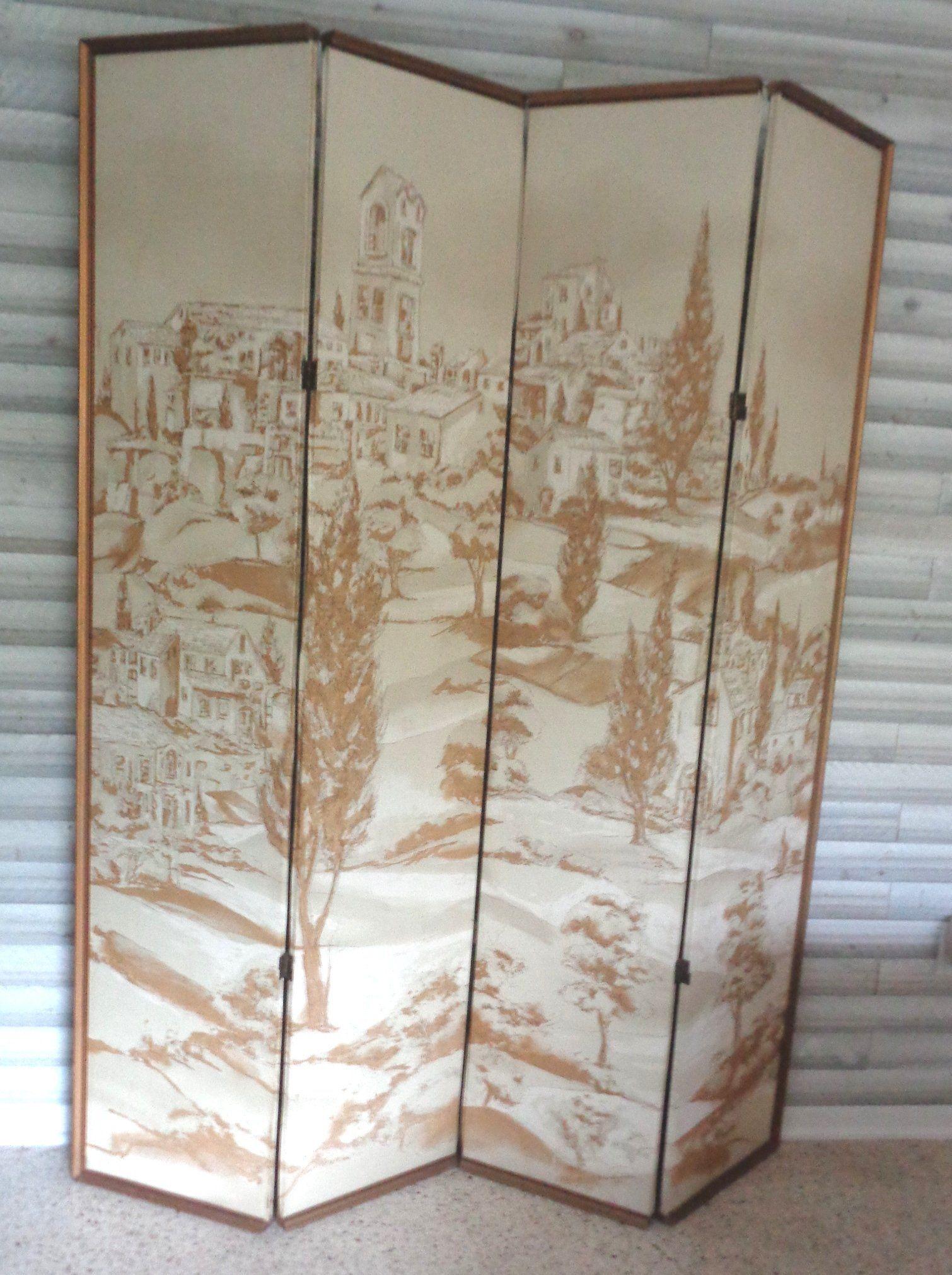 Vintage room divider decorative screen c us custom made room