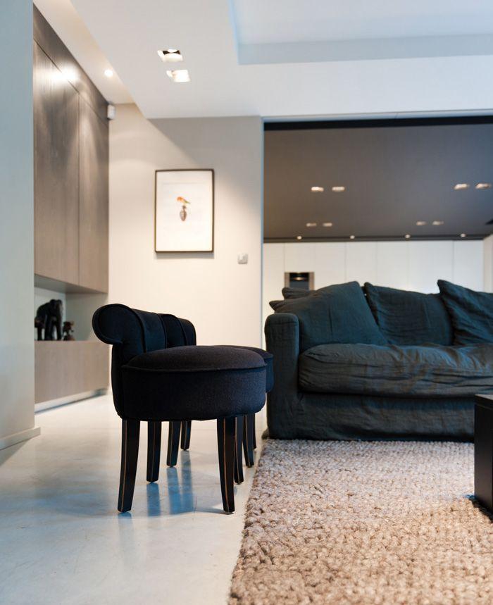 extension maison contemporaine amnagement design salon plafond noir architecte dintrieur - Amenagement Interieur Maison Contemporaine