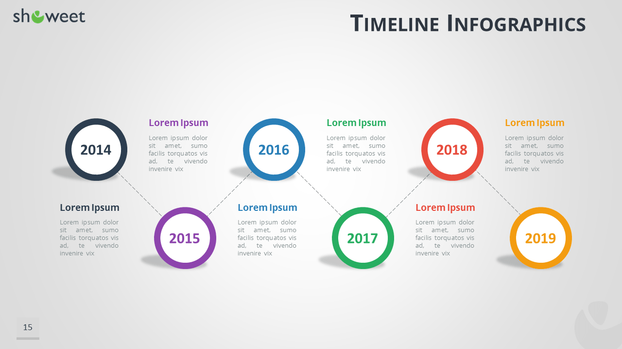 Bubble Timeline Infographics Powerpoint Keynote Template - Free powerpoint timeline templates