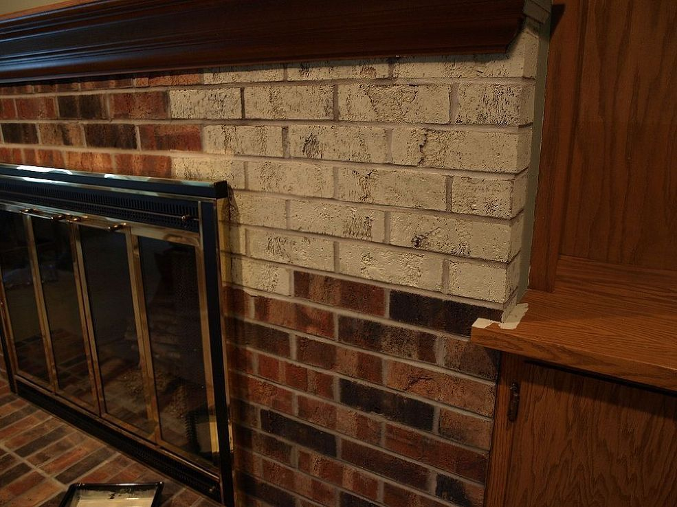 Painting A Brick Fireplace With Chalk Paint 174 Brick