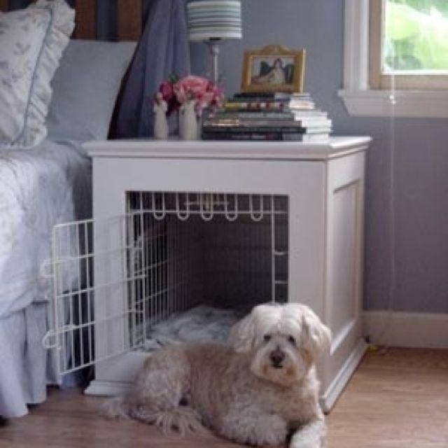 Dog Crate Nightstand Designer Dog Beds Diy Dog Stuff Dog Bed