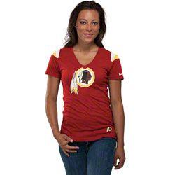 HOT ITEM  Washington Redskins Women s Burgundy Nike Fashion V-Neck T-Shirt  http eb45f47d4