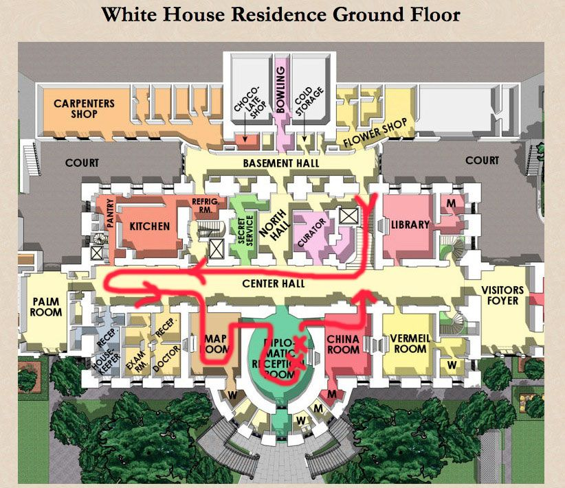 residence ground floor plan | The White House | Pinterest | White ...