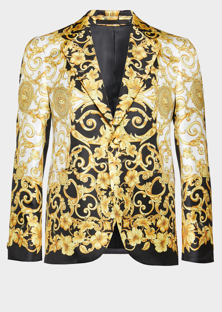 0aea3e84a44 Gold Hibiscus Silk Blazer for Men | US Online Store in 2019 | formal ...