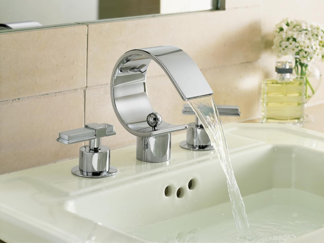 Bathroom Faucets   White sink, Faucet and Modern bathroom