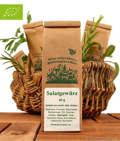 Die Bio Gewürzmischung Salatgewürz von Wurdies besteht aus besten biologisch angebauten Zutaten und eignet sich besonders für das feine Würzen von Blattsalaten. http://www.foodonauten.de/produkte/gewuerzmischungen/salatgewuerz-bio-gewuerz-40g/