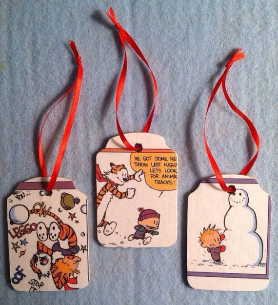 Calvin and Hobbes Christmas Ornaments - Snow Play on Etsy, $12.00 - Calvin And Hobbes Christmas Ornaments - Snow Play On Etsy, $12.00