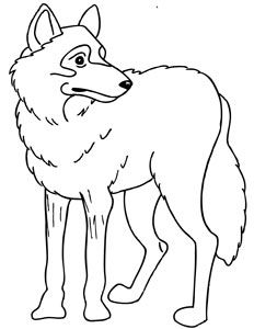 Free Printable Wolf Coloring Page Artic Animals Forest Animals