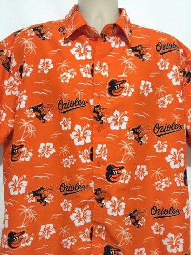 Baltimore-Orioles-Hawaiian-Shirt-SGA-7-12-15-Size-XL-MLB-Os-Baseball ac6f2f816