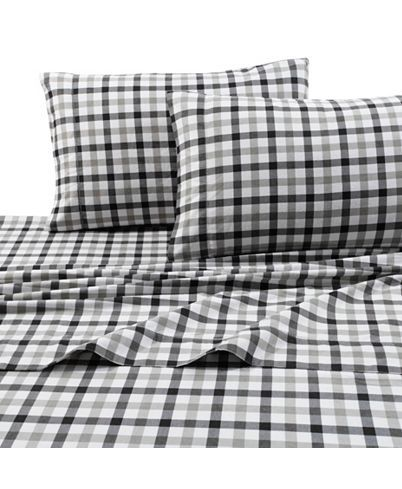 Tribeca Living 200 Gsm Micro Plaid Printed Extra Deep Pocket Flannel Twin Xl Sheet Set Reviews Sheets Pillowcases Bed Bath Macy S In 2020 Plaid Sheets Tribeca Living King Sheet Sets