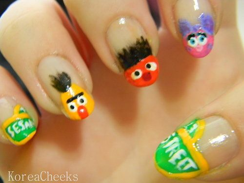 Sesame Street Nails Nails Pinterest Sesame Streets La