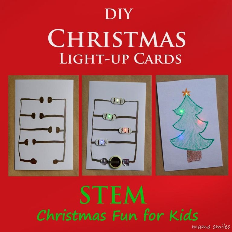 Prepare Your Child For Stem Subjects: DIY Light-up Christmas Cards