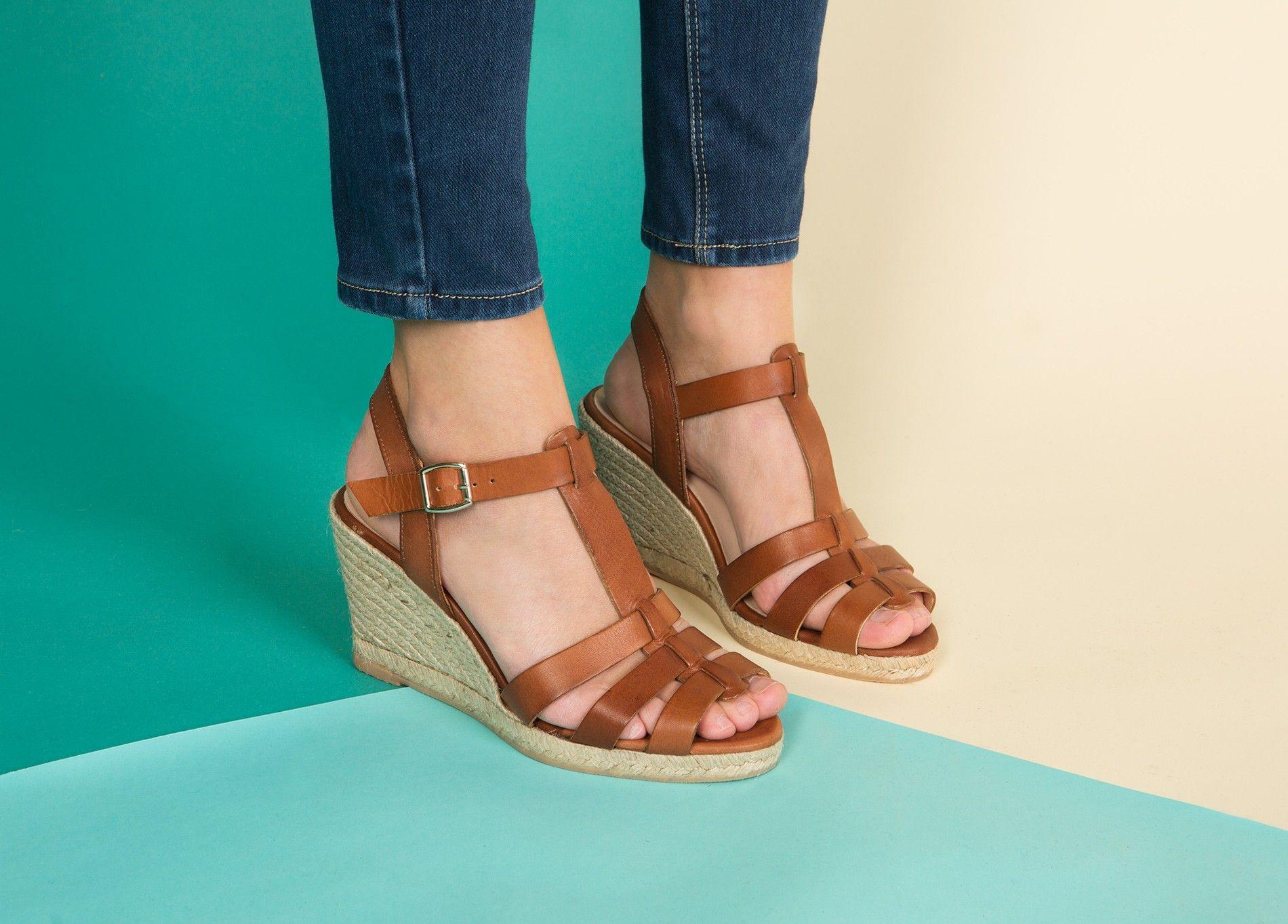sandales compensees noirmoutier | chaussures été | pinterest