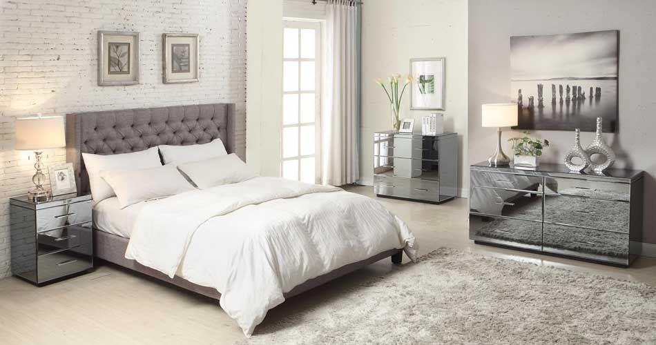 Stunning Mirrored Bedroom Furniture For Elegant Interiors Darbylanefurniture Com Mirrored Bedroom Furniture Modern Bedroom Furniture Bedroom Furniture
