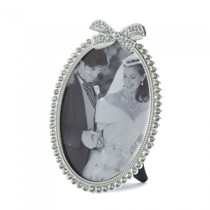 Accent Plus Beautiful Bow Photo Frame 5X7 | Oval photo frames and ...