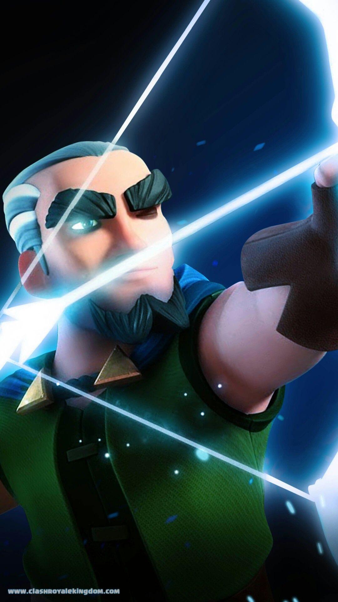 Magic Archer Aims Follow Before Save Clash Royale Wallpaper Clash Royale Clash Of Clans Game