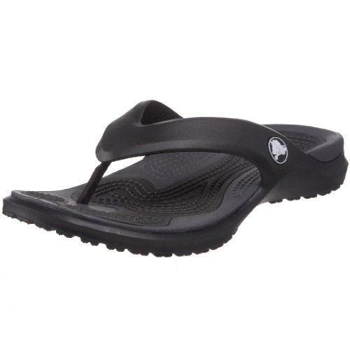 Crocs Unisex Modi Flip Flop Black Graphite Men S 11 M Women S 13 M Crocs Http Www Amazon Com Dp B003blpsa2 Womens Flip Flops Womens Sandals Black Flip Flops