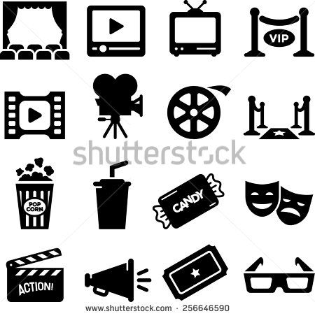 Movie Film And Theater Icon Set Vector Icons For Digital And Print Projects Iconic Movies Icon Set Vector Icon
