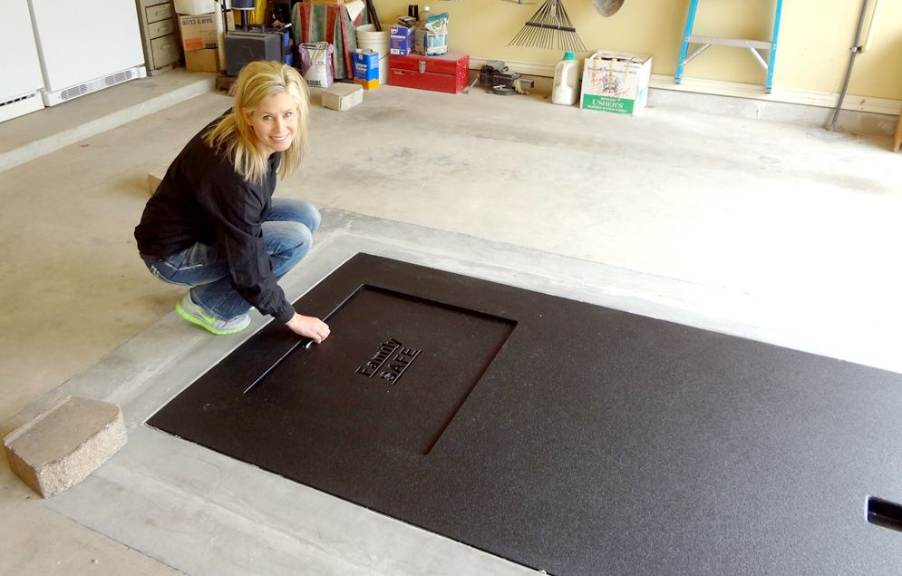 Cool shelter built in garage Another garage floor idea from – Garage Floor Storm Shelter Plans
