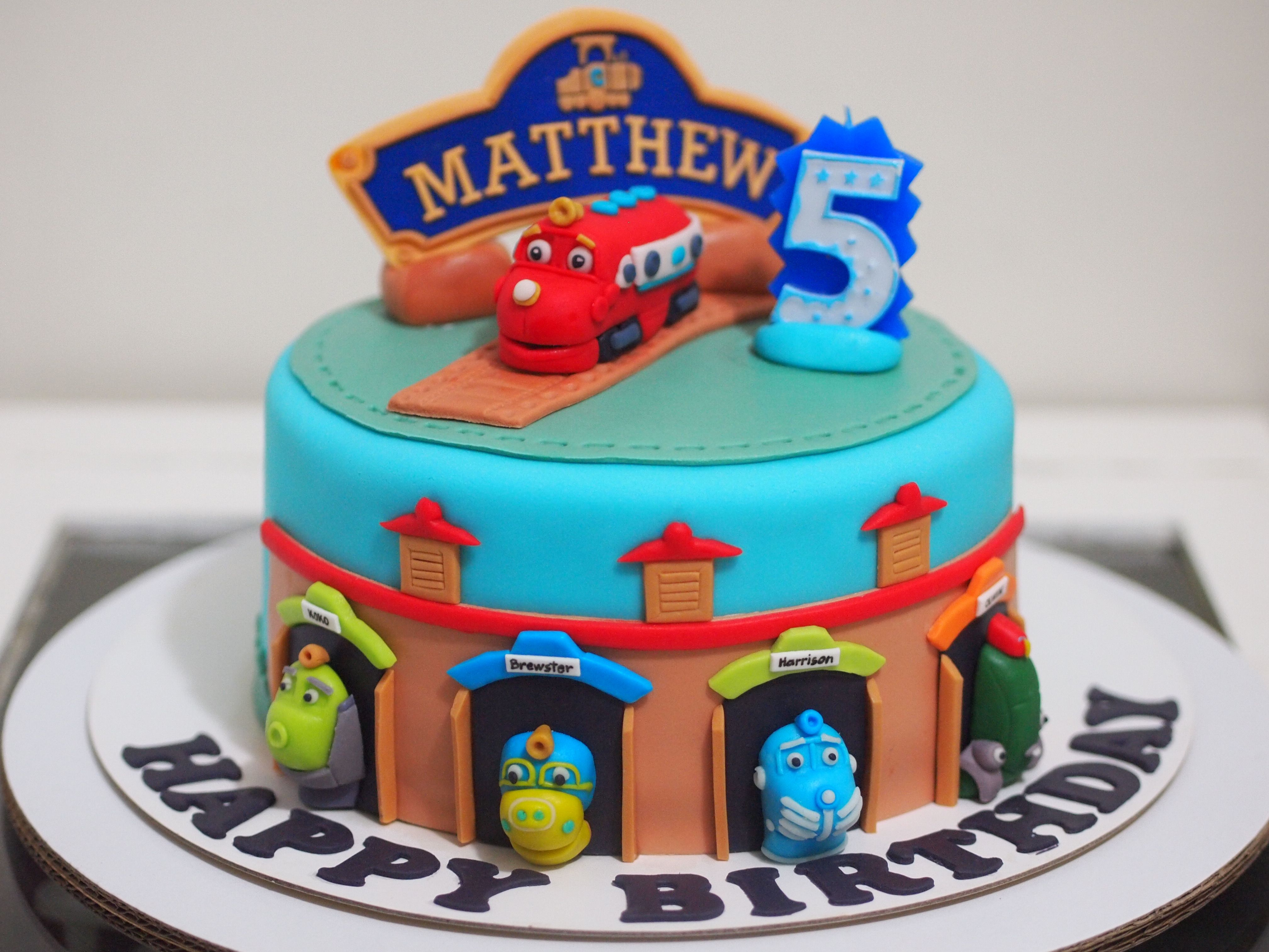 Fine Chuggington Birthday Cake With Images Chuggington Birthday Funny Birthday Cards Online Overcheapnameinfo