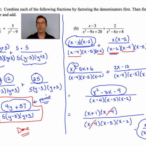 Common Core Algebra II Unit 10 Lesson 8 Adding and