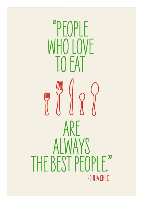 Kitchen art, wall decor, print poster inspirational retro food quote ...