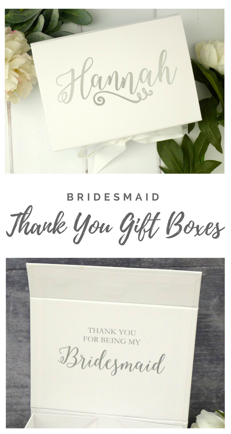 Thank You Gift Boxes for Bridesmaids! Personalised Wedding gift ...