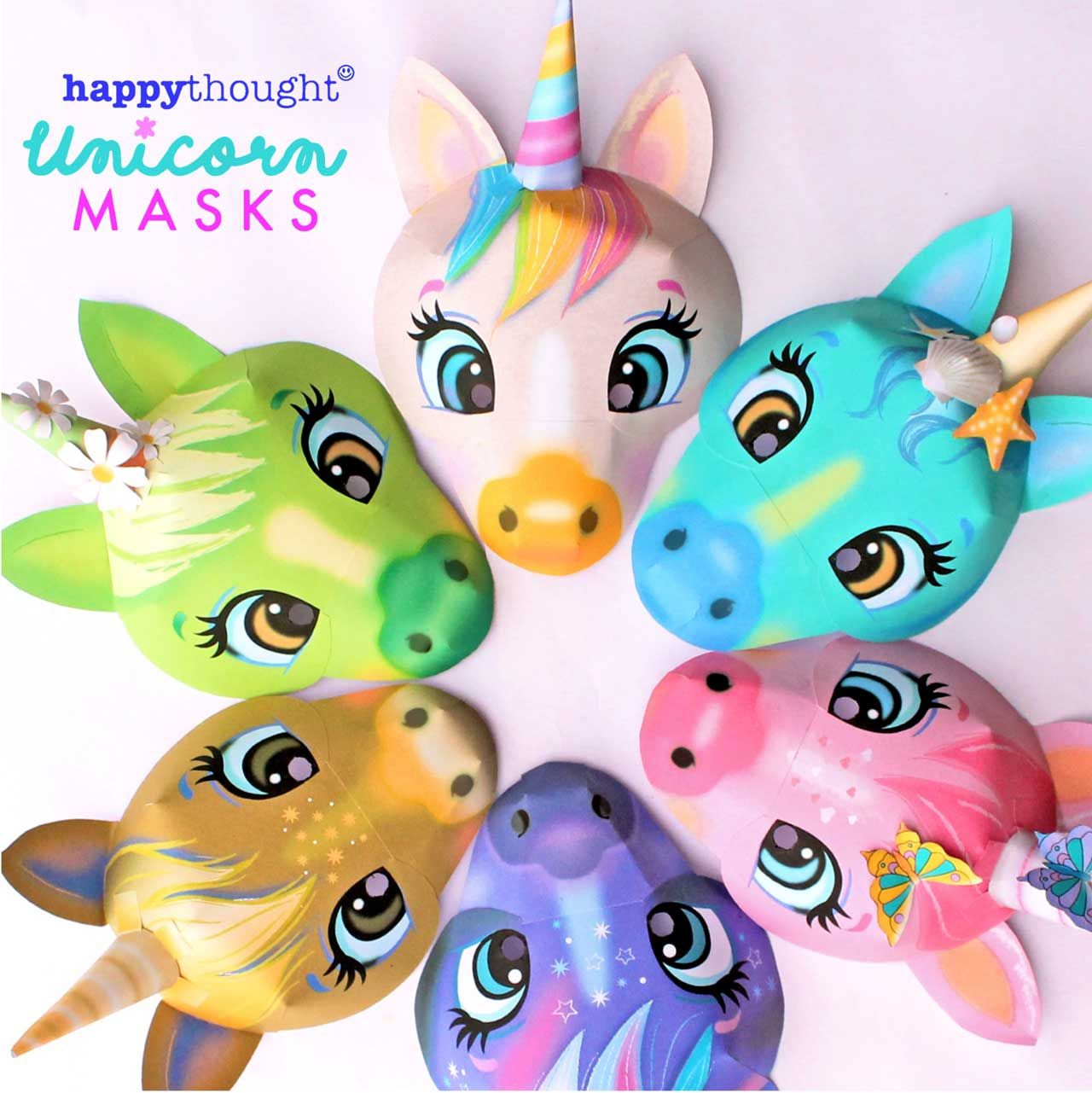 Adorable Quick And Easy Printable Unicorn Masks To