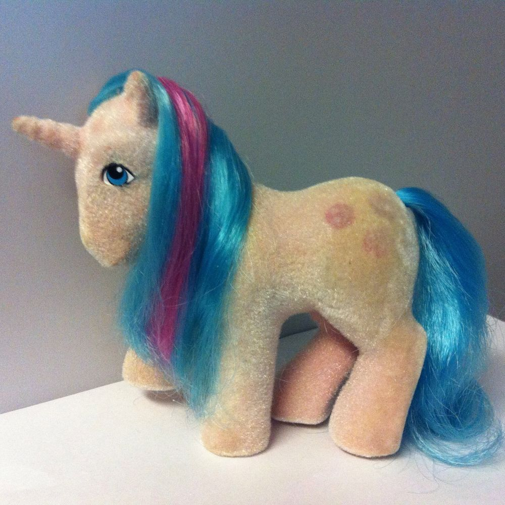 My Little Pony MLP G1 Vintage SS So Soft Ponies Unicorn BUTTONS 1986 #Hasbro