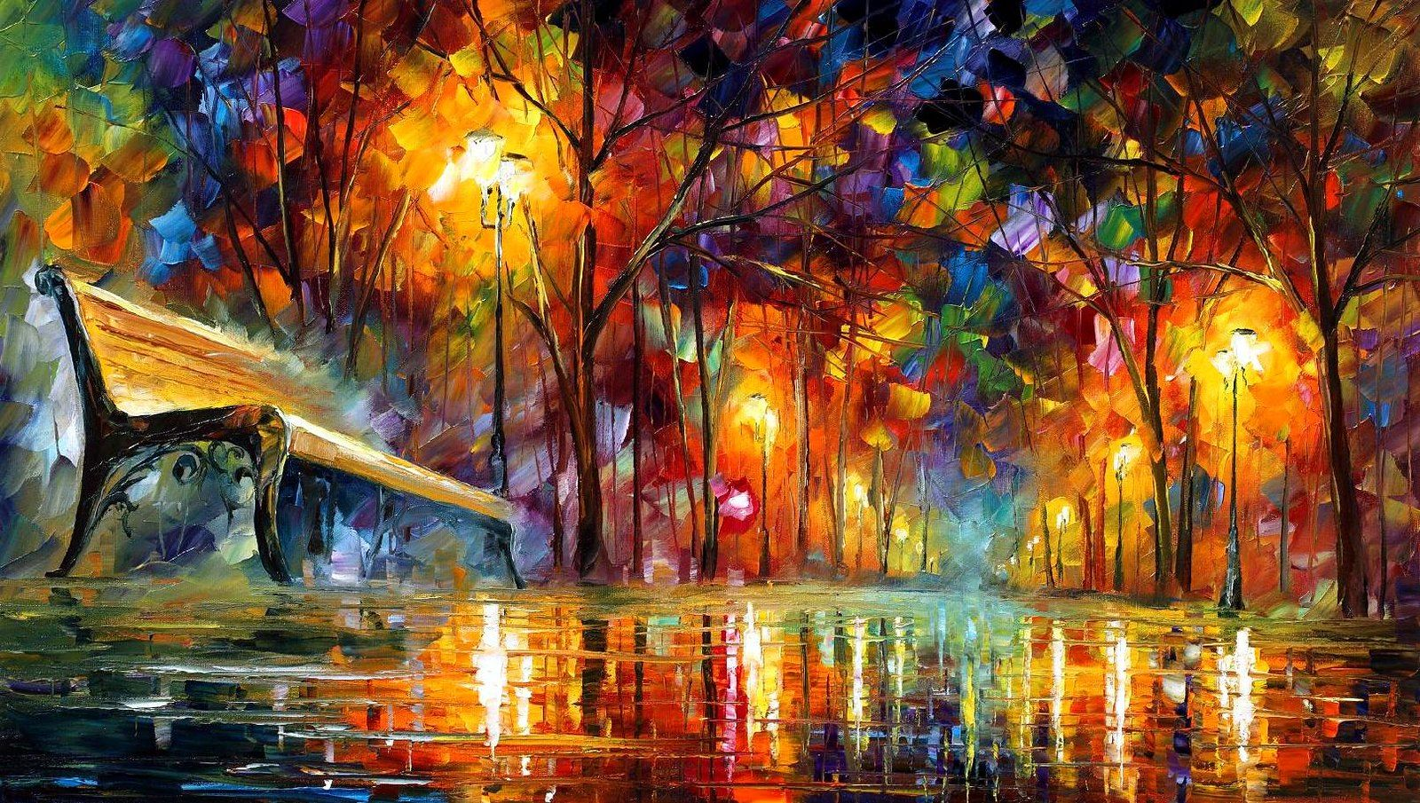 8 - night perspective 20 x 36 | Leonid Afremov | Flickr