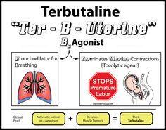 Terbutaline Mnemonic Nursing School Survival Nursing Mnemonics
