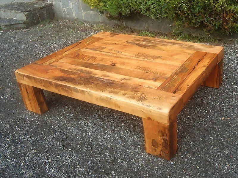 resultado de imagen para mesas de centro de madera - Mesa De Madera Rustica