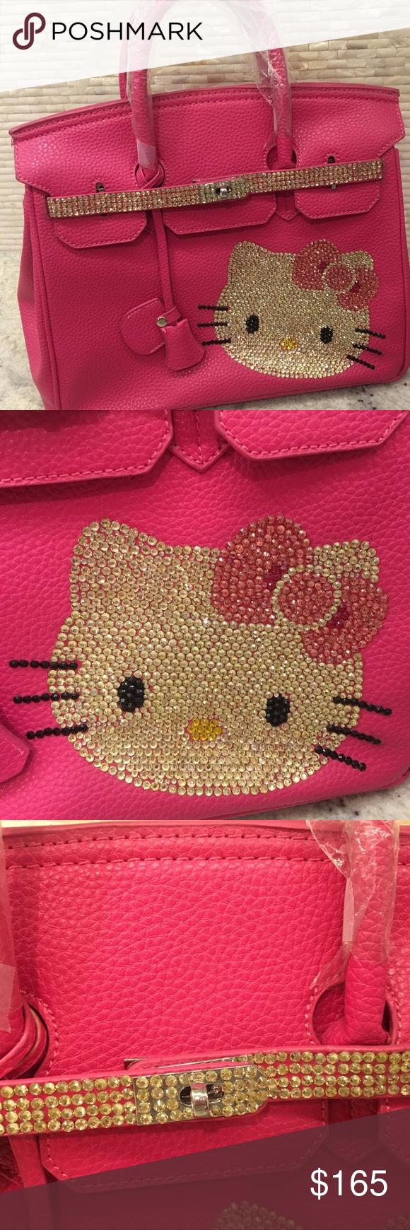 Hello Kitty Birkin Style Bag -Swarovski crystals Hermes Birkin-style Hello  Kitty Togo Leather 96bc808476c3e