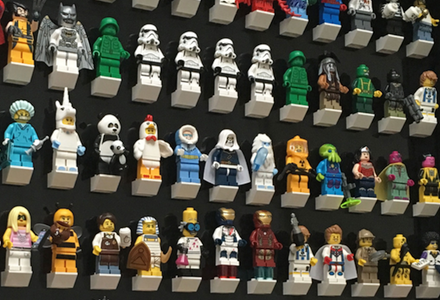 LEGO DISNEY figurine série 1-Affichage Cadre Noir