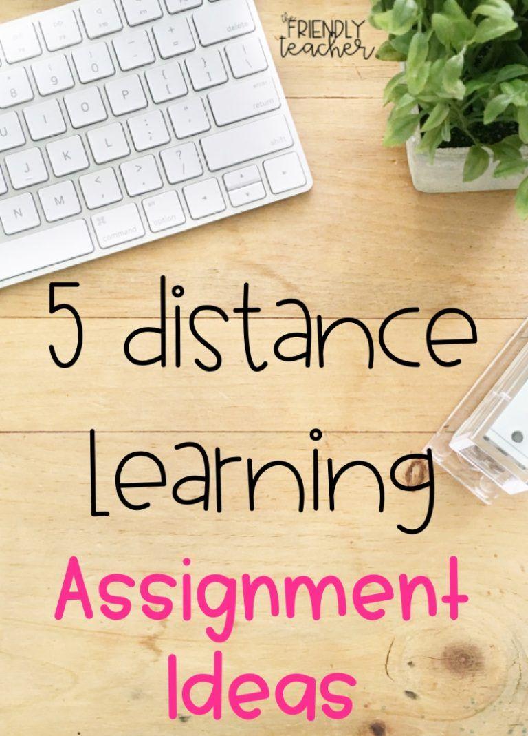 Distance Learning Digital Assignment Ideas - The Friendly Teacher