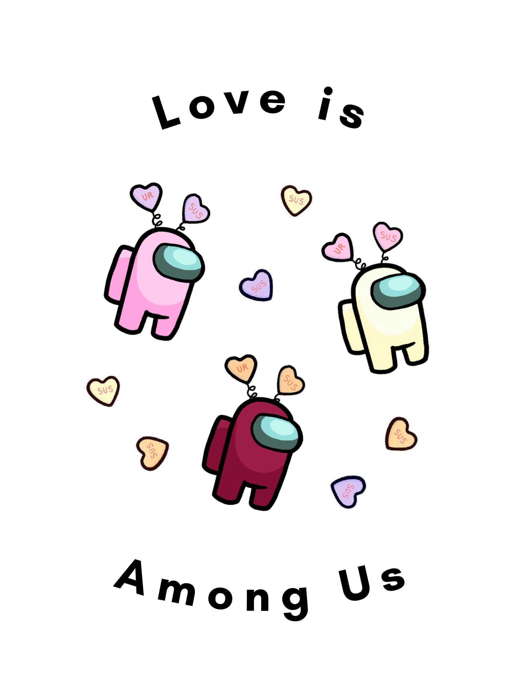 Excited To Share This Item From My Etsy Shop Among Us Valentines Photo Card Png Entryway In 2021 Valentines Wallpaper Valentines Day Drawing Valentine Photo Cards