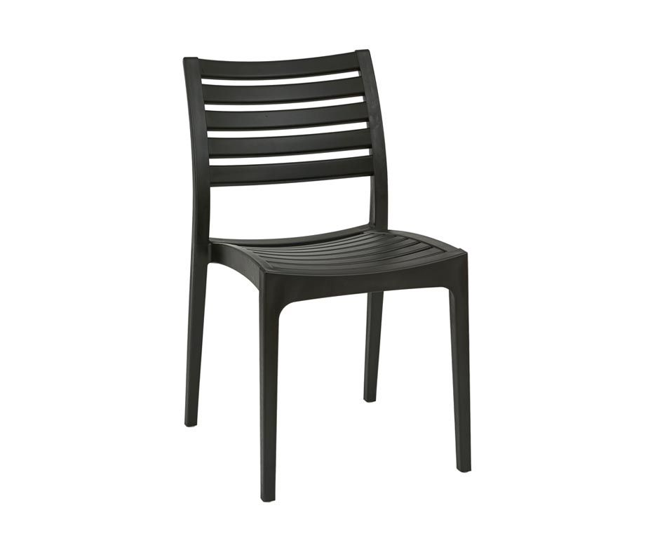 melbourne stacking outdoor chairs in black and brown melbourne
