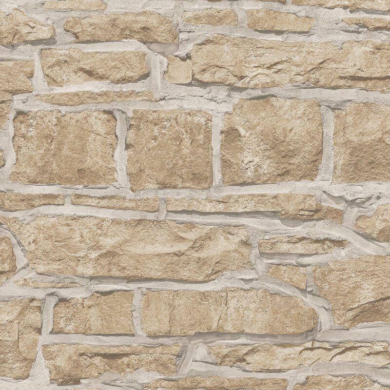 Arthouse Realistic Rustic Old Church Stone Brick Wall