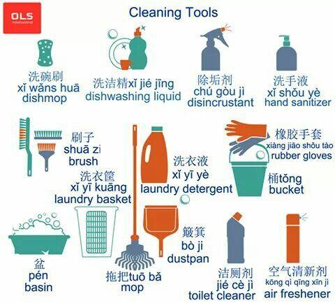 Washing Tools Chinese Language Chinese Language Learning Learn