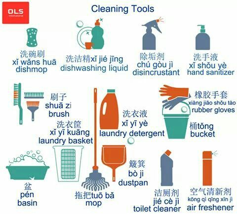 Washing Tools Chinese Language Chinese Language Learning Learn
