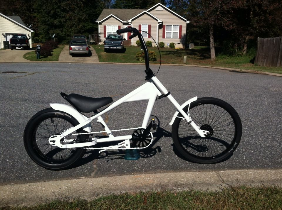 My Custom Schwinn Stingray Chopper Pearl White And Pearl Black Custom Bicycle Bicycle Bicycle Design