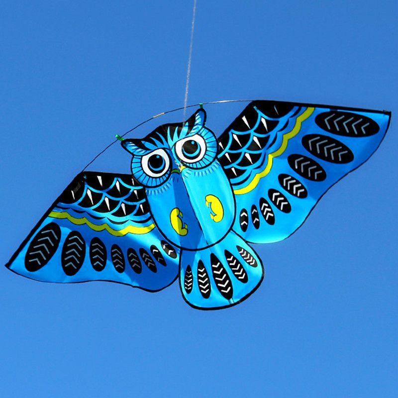 New 110 50cm Colorful Owl Kite With Kite Line Easy To Fly