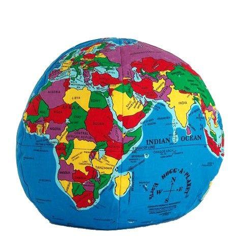 Wereldbol kussen