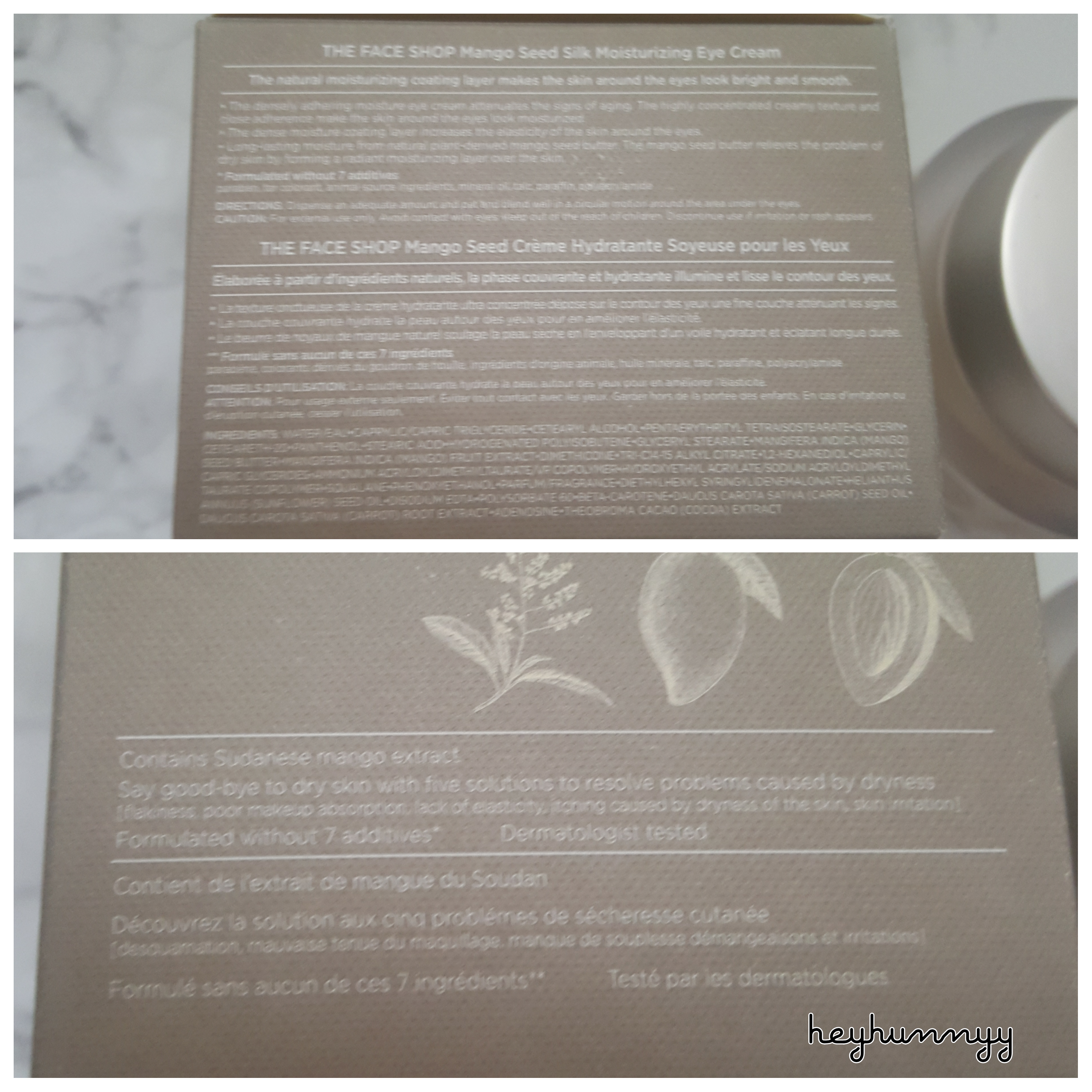 Review The Face Shop Mango Seed Eye Cream Read At Hunnyy Com Thefaceshop Kbeauty Butter Mang The Face Shop Top Beauty Products Moisturizing Eye Cream