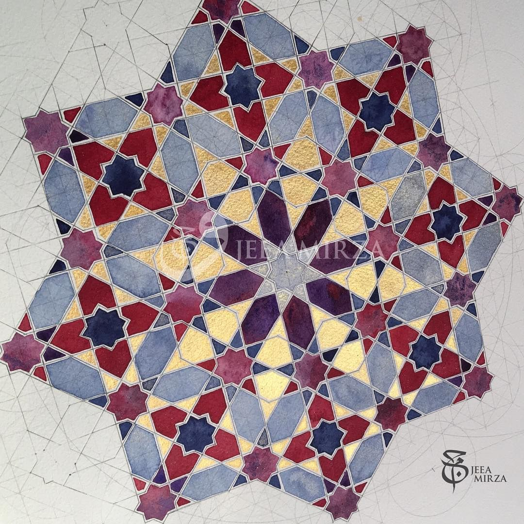 451 Vind Ik Leuks 16 Reacties Jeea Mirza Jeeamirza Op Instagram This Piece Is For Sale And Is Available Imme Islamic Patterns Islamic Art Geometric Art