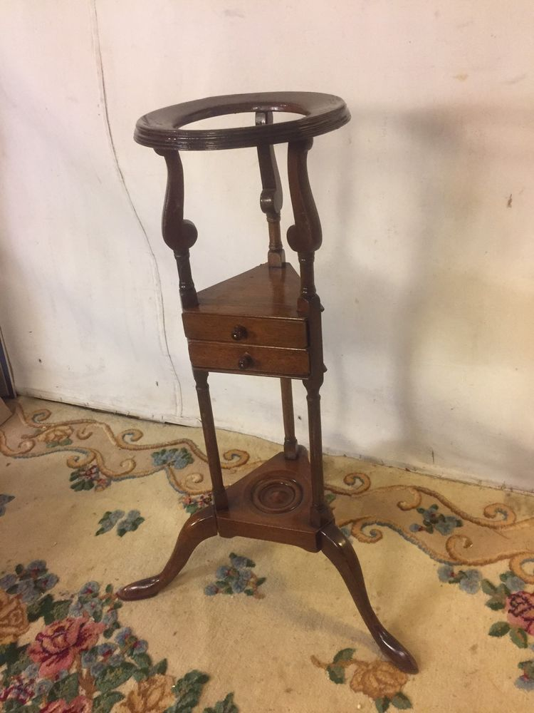 Hat stand antique cherry refinished 10x32c8pix4size