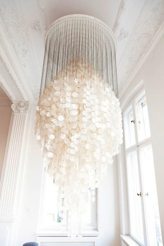 Breaking the rules of scale capiz shell chandelier shell organicmatterscollections loves capiz shell chandelier light aloadofball Choice Image