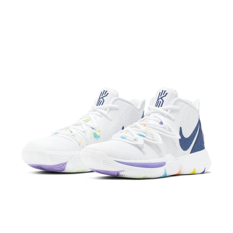 Kyrie 5 Basketball Shoe - White | Girls