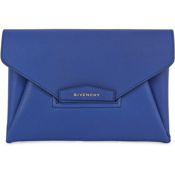 8c9a957415d9 Givenchy Antigona Large Grained Leather Blue Clutch