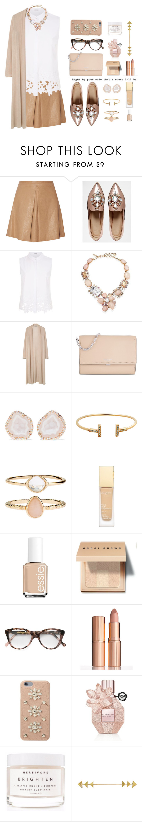 """""""by your side."""" by jafashions ❤ liked on Polyvore featuring Alice + Olivia, ASOS, Elie Tahari, Oscar de la Renta, MANGO, Michael Kors, Kimberly McDonald, Accessorize, Clarins and Essie"""